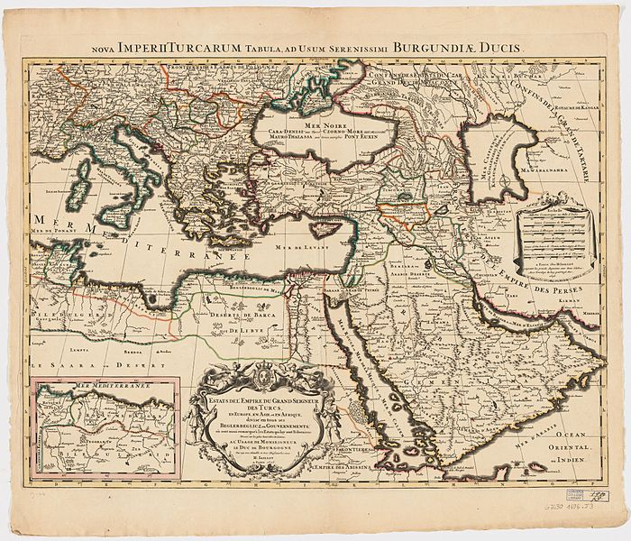 Ottoman Empire 1696 by Jaillot 1