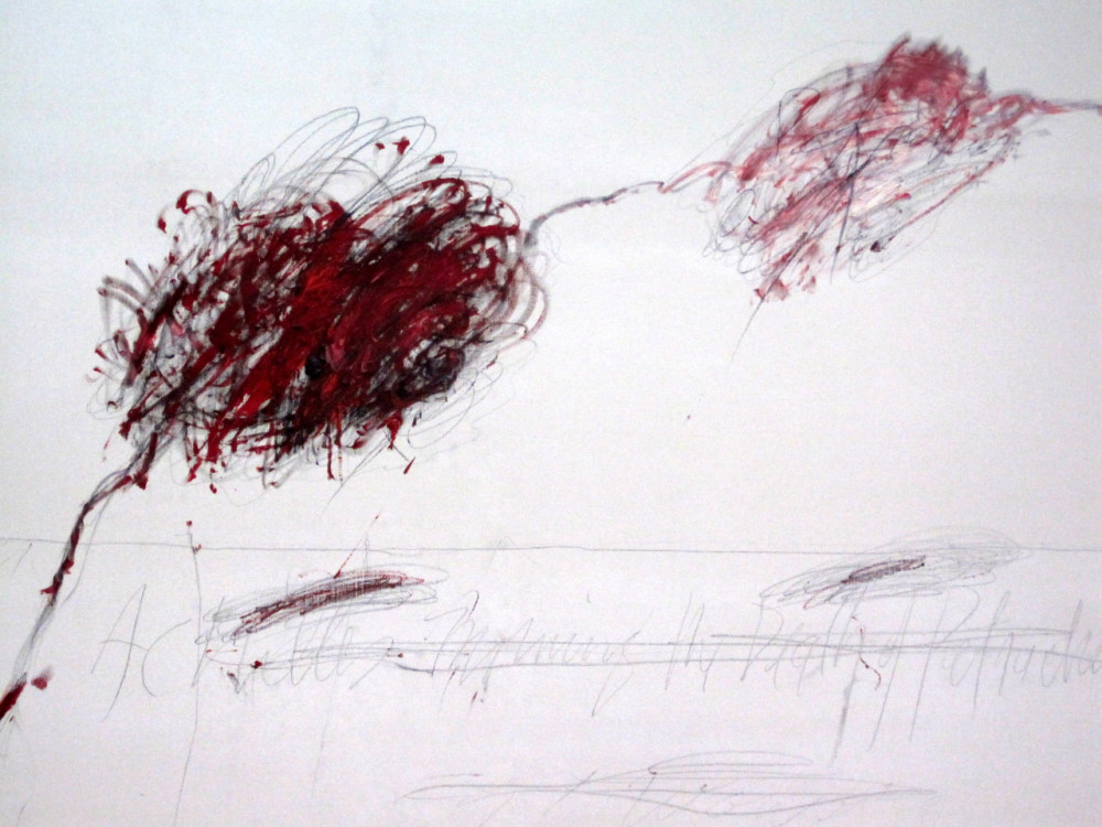 cy twombly achilles mourning the death of patroclus