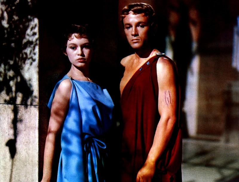 Brigitte Bardot and Jacques Sernas in Helen of Troy 1956