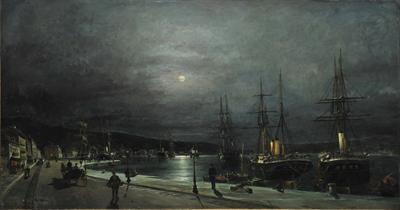 Volos Harbour at Night NGAL