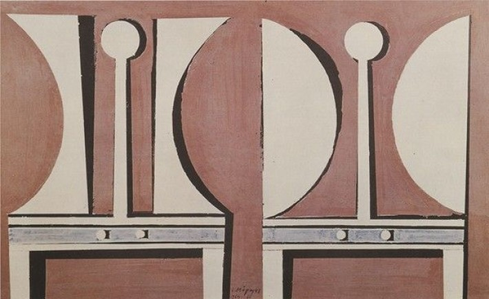 Yiannis Moralis Anges blancs sur un fond rose